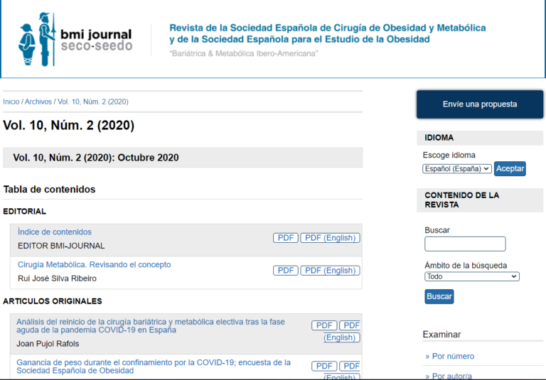 El dr. Pujol publica artículo en la revista Bariátrica y Metabólica Ibero-Americana